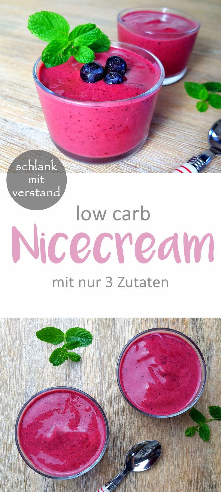 low carb Nicecream mit nur 3 Zutaten #lowcarbveggies