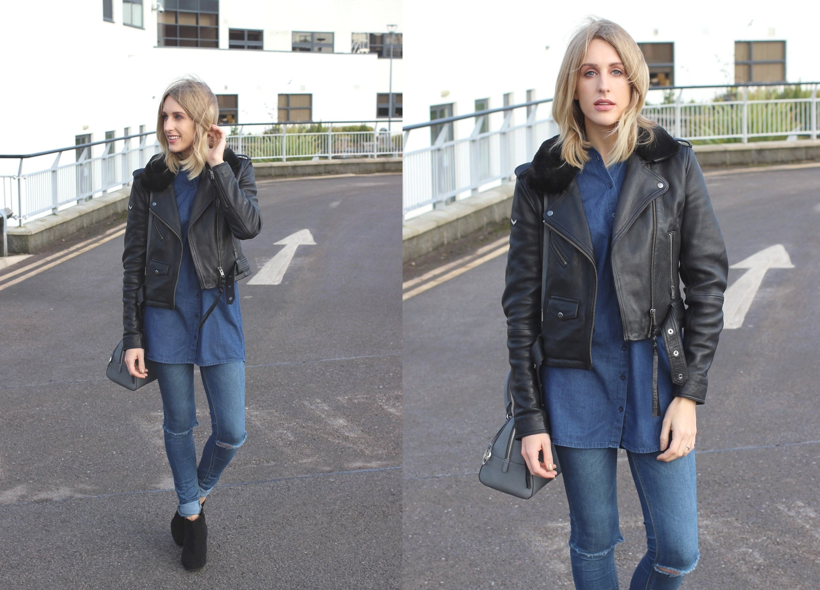 How to wear double denim #fashion #style #blog #streetstyle
