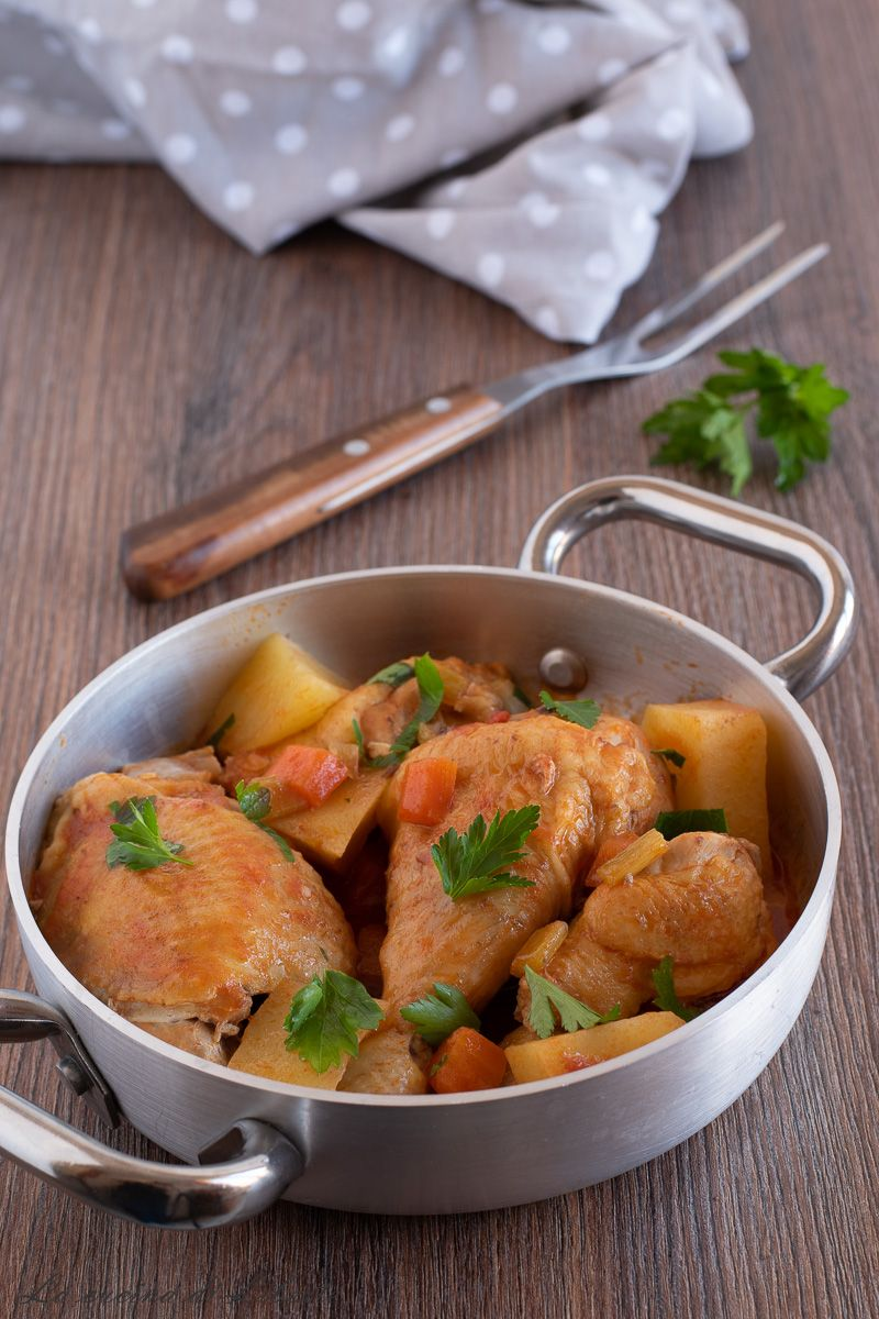 Photo of Stewed chicken with potatoes