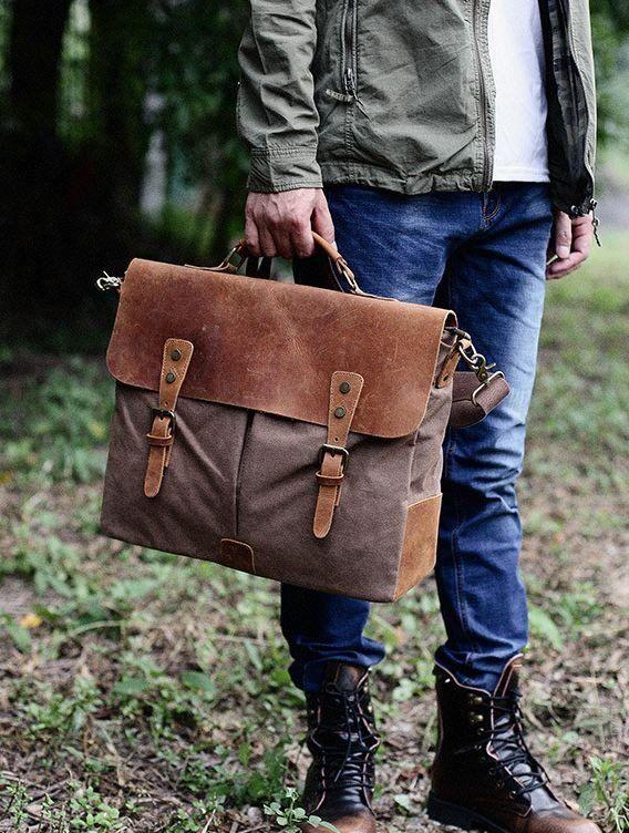 Yueda Designed Leather Shoulder Messenger Sports Bag Pockets Crossbody Bags Color : Brown