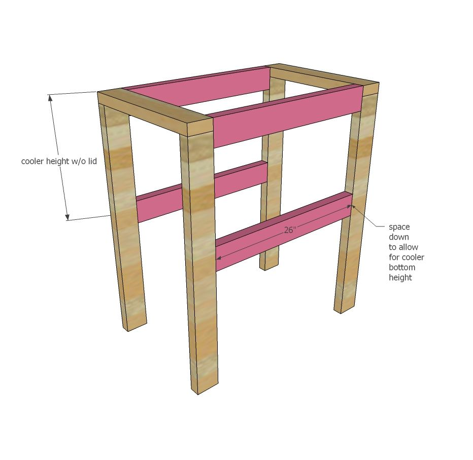 Ana white build a pallet cooler stand free and easy for Wood table base plans
