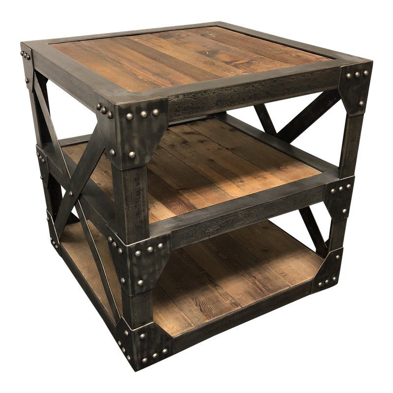 Industrial Timothy Oulton Scaffolding Timber Side Table | Products