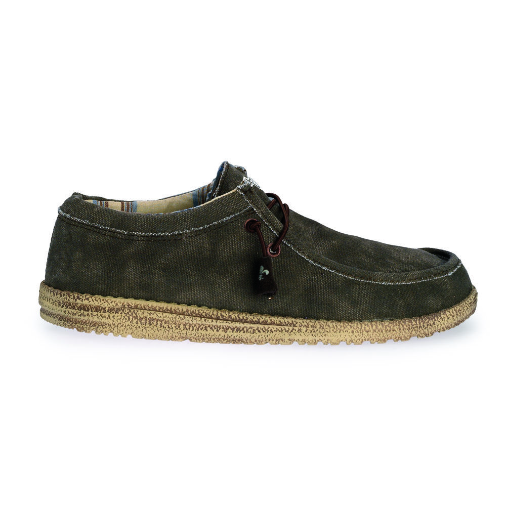Wally Slip on or Lace up Hey Dude Shoes  Wally style is a lace up delivered  to you with an elastic lace system to maintain Dude Shoes slip on character  but ... ea97642d58d