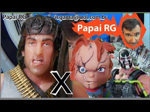 Rambo First Blood boneco Programado para Matar Papai RG  X Chucky Bane B...