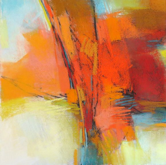 orange abstraction 12x12 pastel by debora l stewart incredible artwork pinterest fonds d. Black Bedroom Furniture Sets. Home Design Ideas