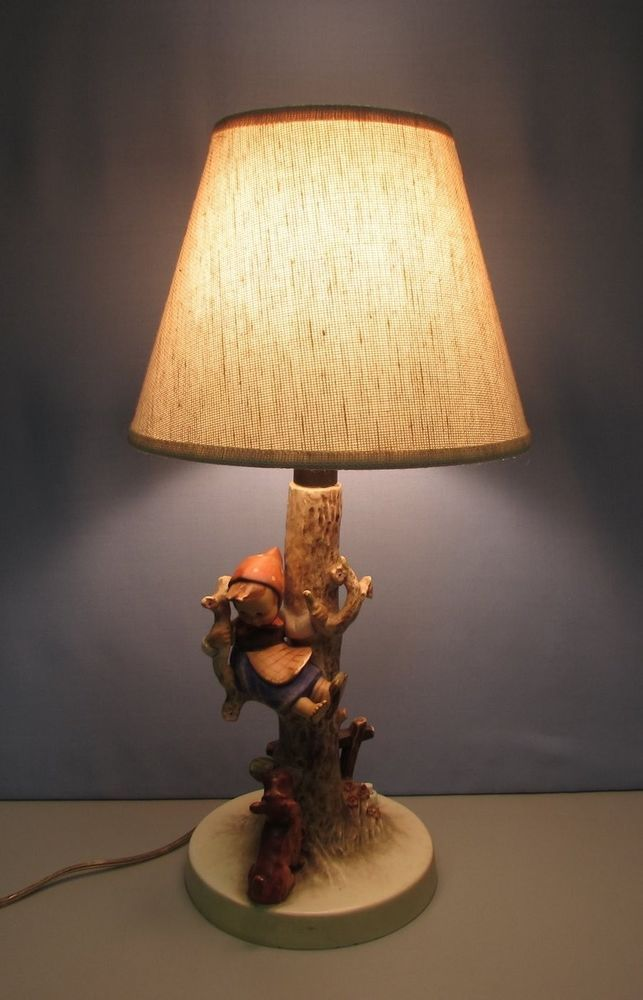 Details About Goebel Hummel Out Of Danger Lamp Girl
