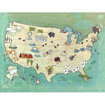 Oopsy Daisy Camp USA by Rachel Austin Canvas Wall Mural