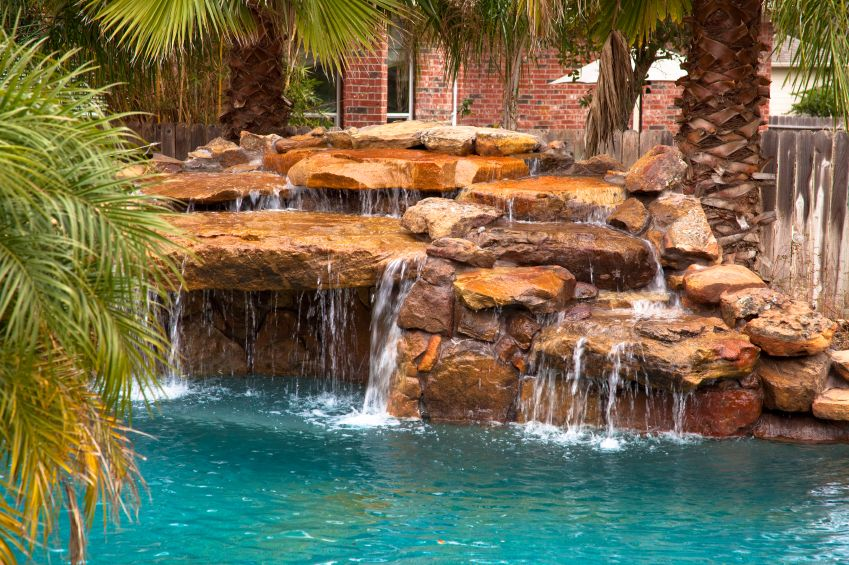 80 Fabulous Swimming Pools With Waterfalls Pictures Swimming Pool Waterfall Pool Waterfall Swimming Pools