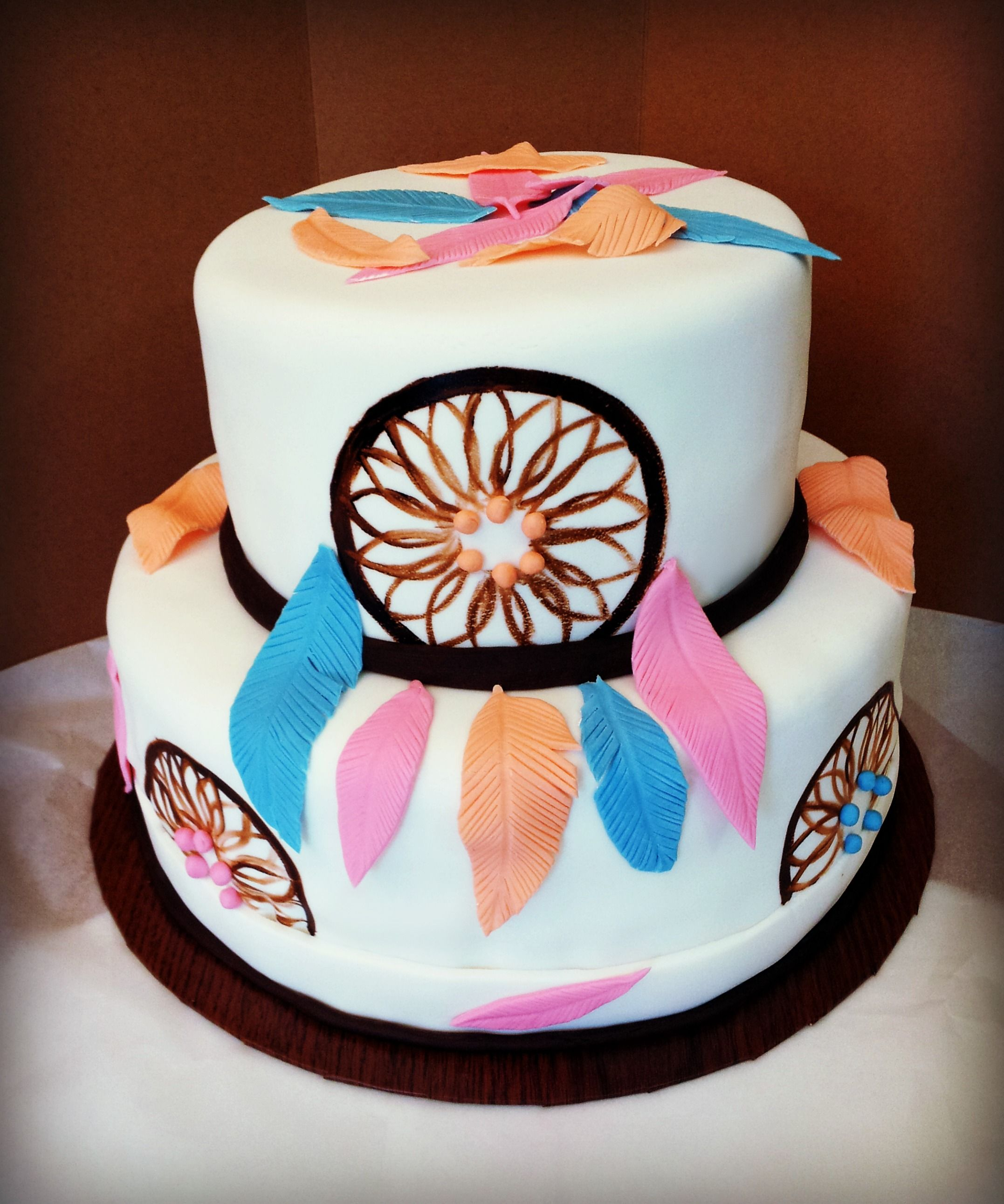 Native American Cake Themed Cakes Dream Catchers Birthday Ideas Birthdays Decorating Designer