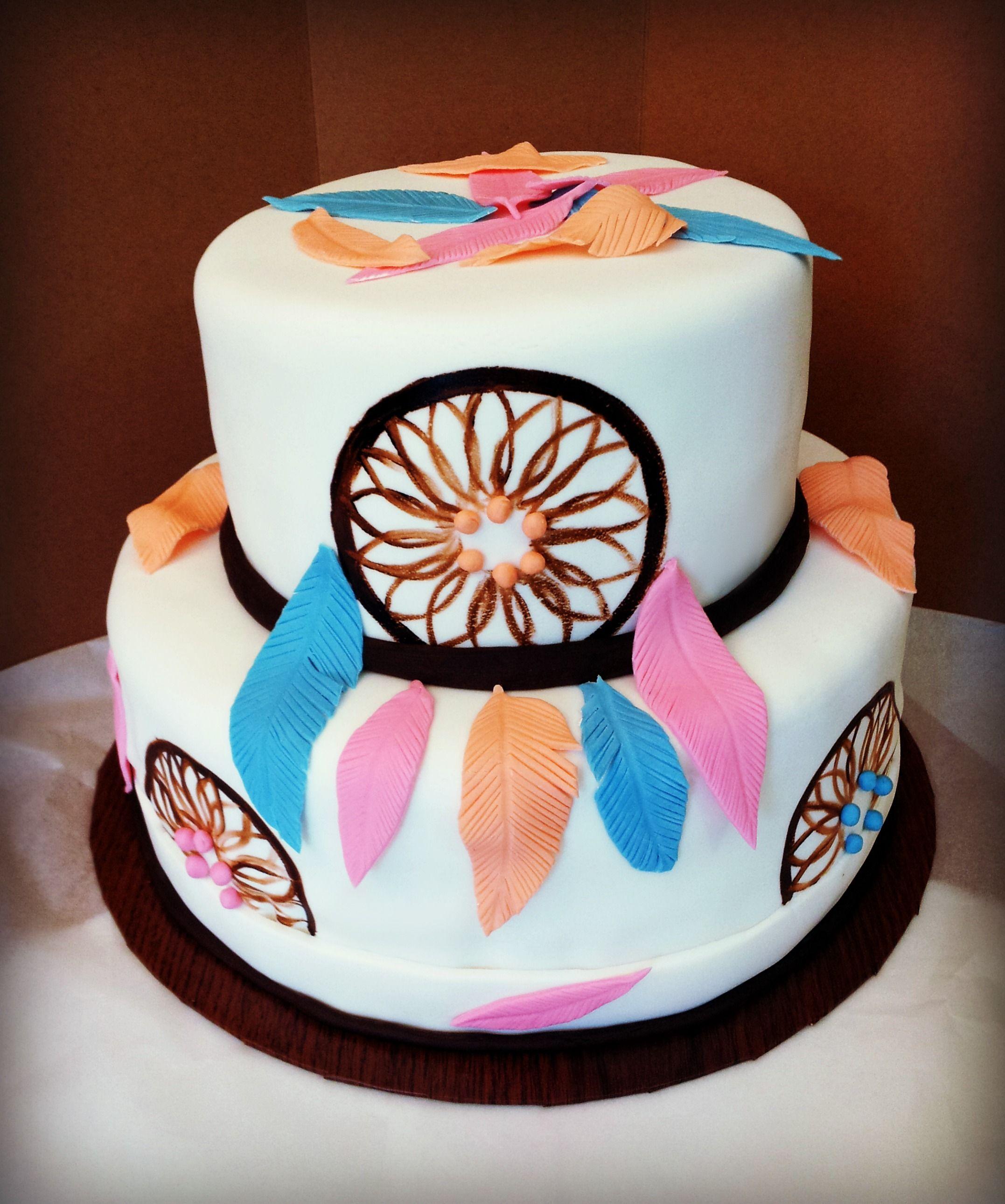 Native American Cake Themed Cakes Dream Catchers Birthday Ideas Birthdays Decorating Designer