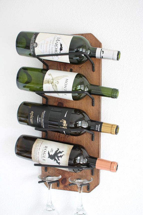 Wine Rack Wall Mounted Small Rustic