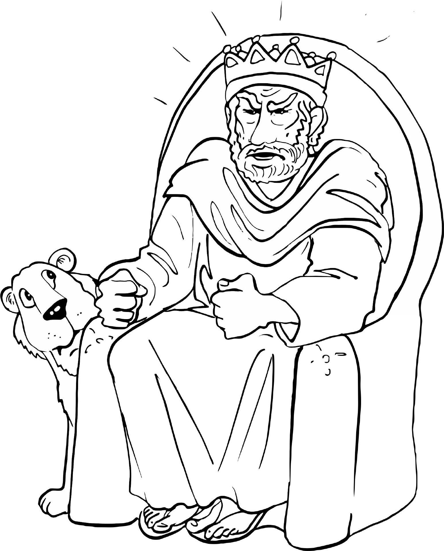 Großzügig König David Malvorlagen Zeitgenössisch - Druckbare ...