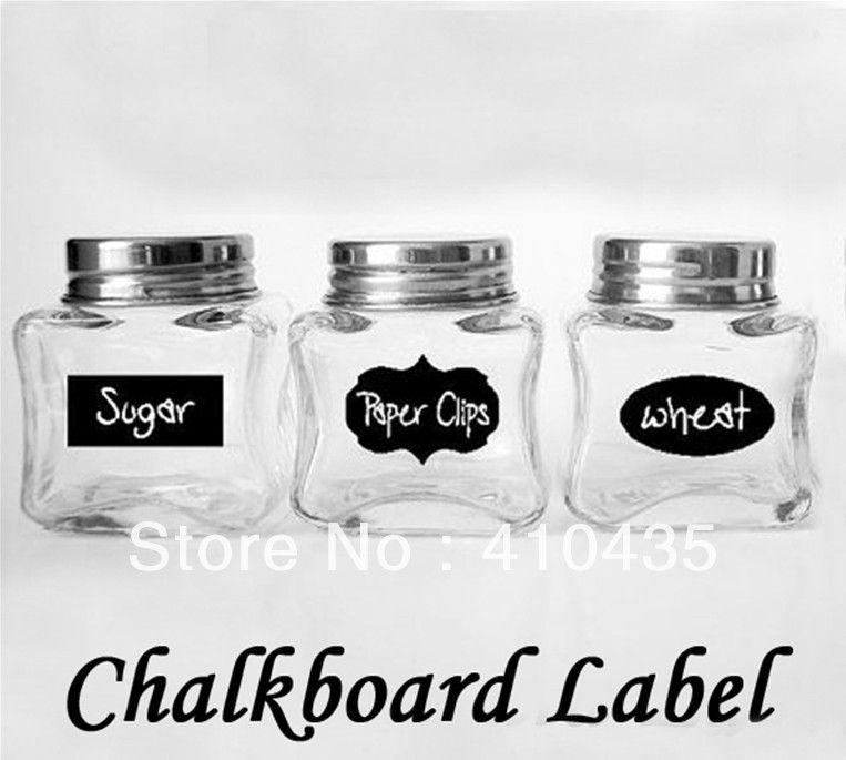 Cute Chalkboard Sticker Labels Vinyl Kitchen Pantry Organizing Home Sticker 3 Design 36 Decals NEW HOT 5CM X 3.5CM
