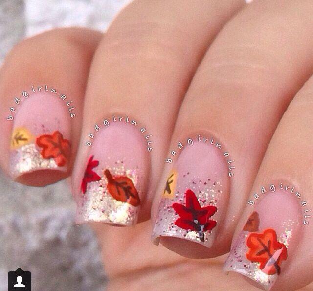 Pretty   fall nails   Pinterest   Uñas elegantes, Manicuras y Uñas ...