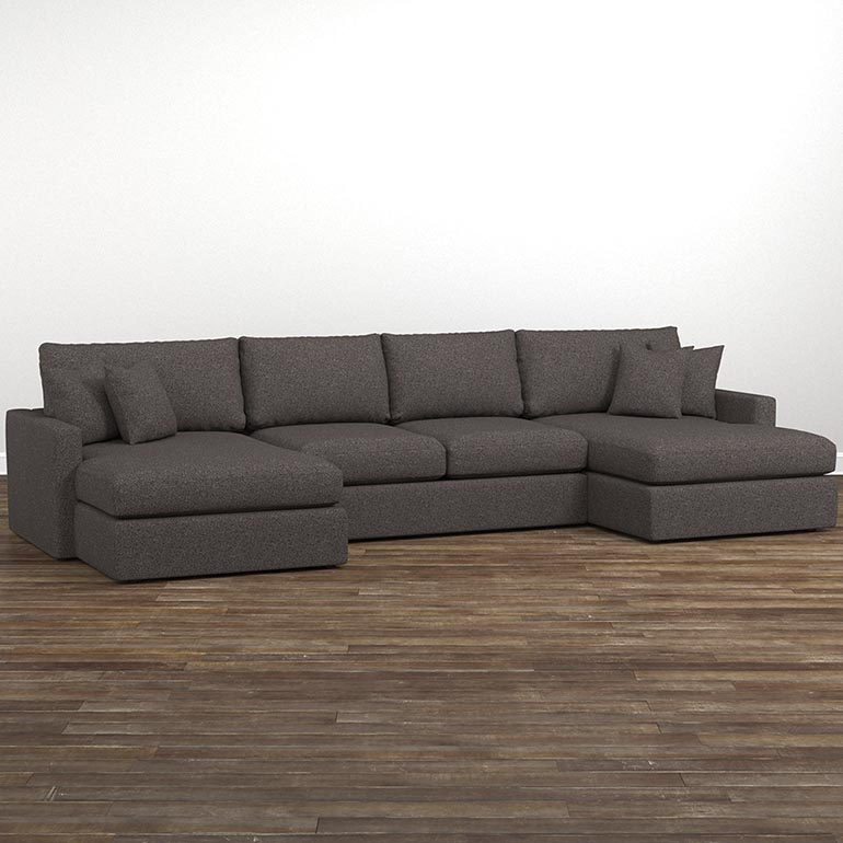Allure Double Chaise Sectional Couch With Chaise Sectional Sofa