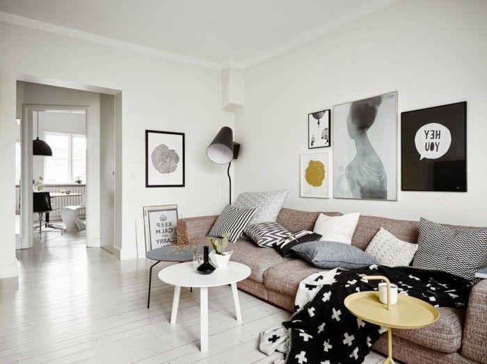 Wohnzimmer einrichten Ideen für einen Raum mit eigener Individualität #skandinavischwohnen