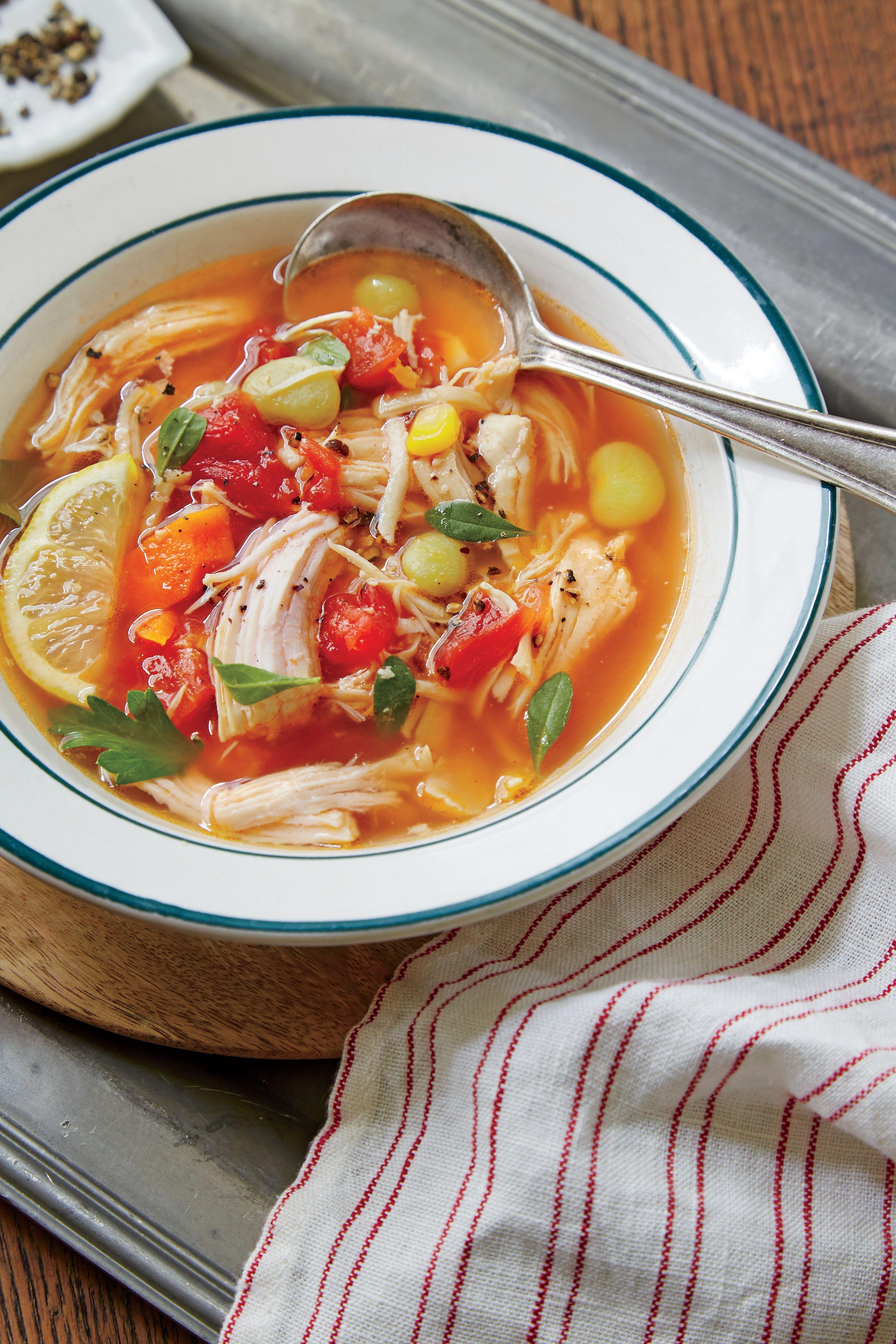 Lemon Chicken Vegetable Soup Recipe Soup Recipes Slow Cooker Spring Soups Chicken Vegetable Soup Recipes