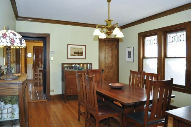1741 North Newcastle Avenue Chicago Il Bungalow Dining Room