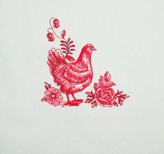 T Towel Red Toile Kitchen Tea Towels Chicken T Towel Rooster T
