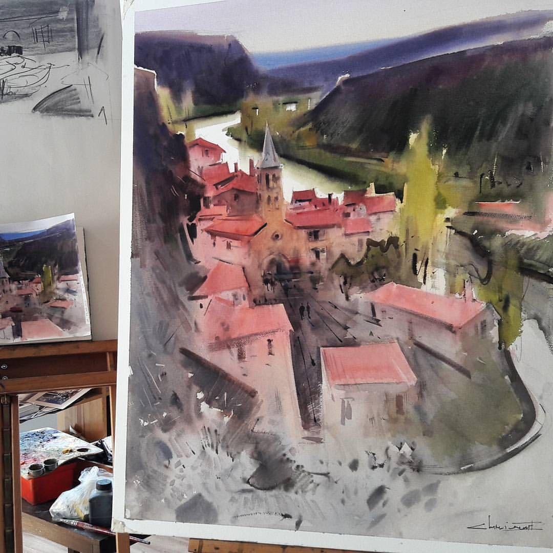Eugen Kisnichan Watercolor Paintings Watercolor Painting