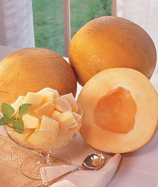 Creme De La Creme Melon- small 6 lbs. melons fragrant sweet & spicy, hints of vanilla!