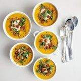 Spiced Carrot Soup With Roasted Chickpeas and Tahini | POPSUGAR Food   - Soups -