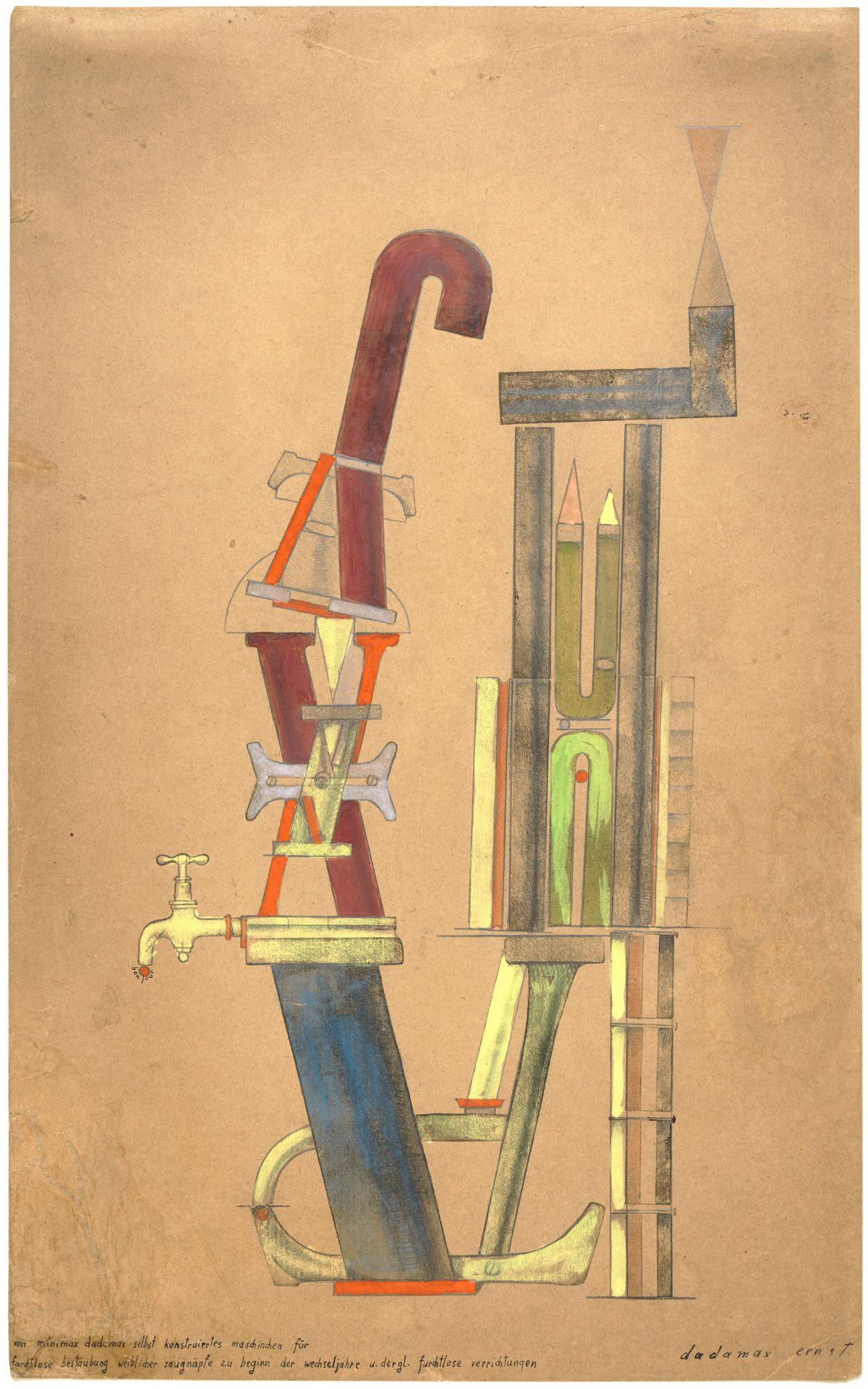 """retroavangarda: """" Max Ernst Little Machine Constructed by Minimax Dadamax in Person (Von minimax dadamax selbst konstruiertes maschinchen), 1920 """""""
