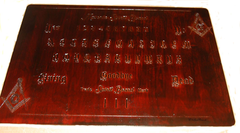 Ouija Board Coffee Table Ouija Board Spirit Board Witches Board Masonic Spirit Board
