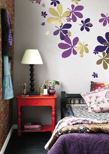 Colorful Wall Stickers Home Decor Bedroom Vintage Colorful