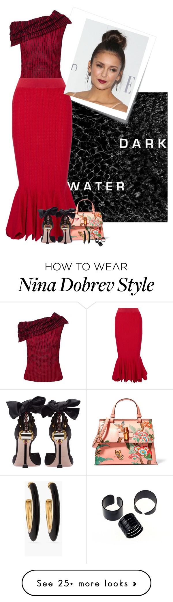"""""""Danielle"""" by herzblut1 on Polyvore featuring Post-It, Roland Mouret, Jonathan Simkhai, Gucci, Miu Miu and Chico's"""