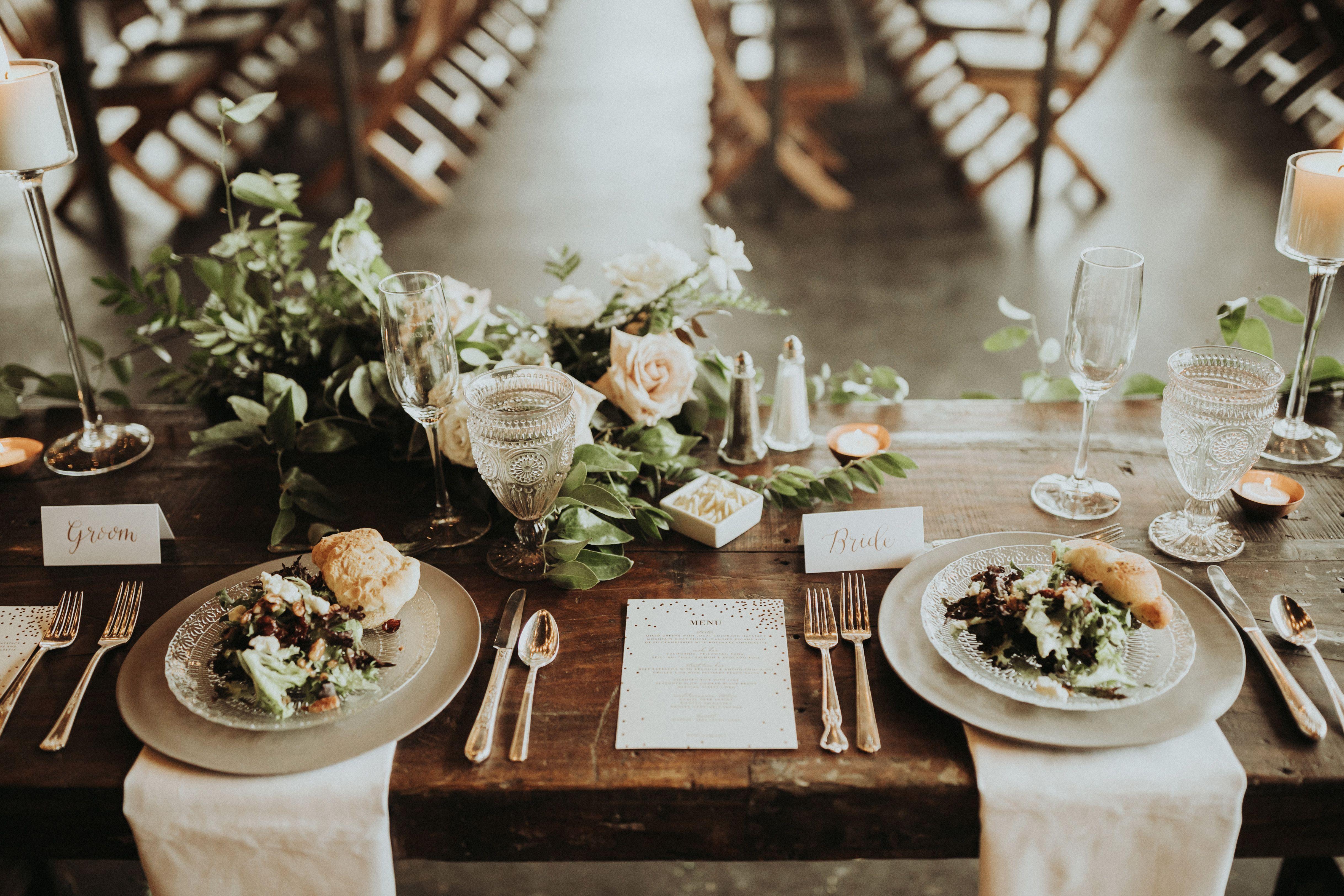 Head Table, Shapely Design, Bride U0026 Groom, Table Settings, Denver, Colorado