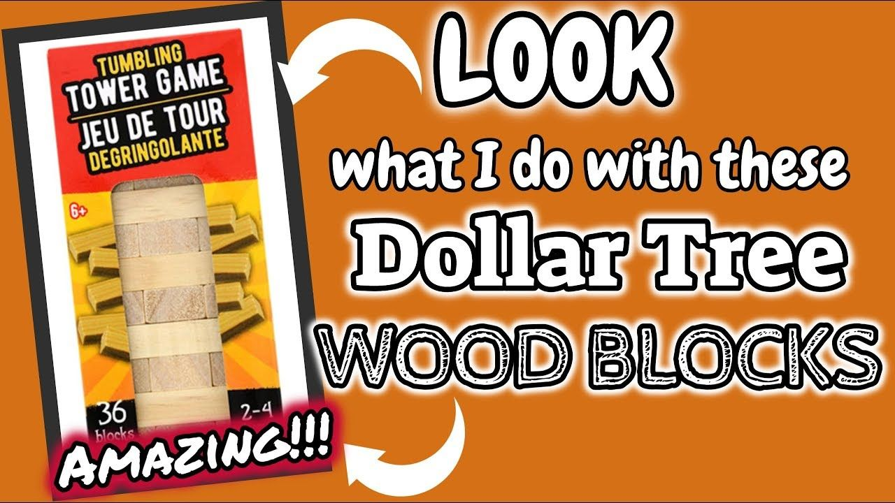 Look What I Do With These Dollar Tree Wood Blocks Dollar Tree