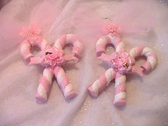 pinkalicious candy cane ornaments