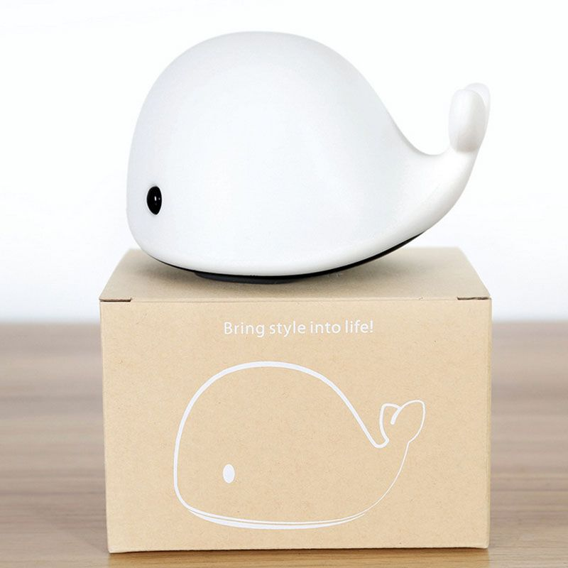 1 Piece New Led Small Sleep Whale Night Light Light Up Toys For