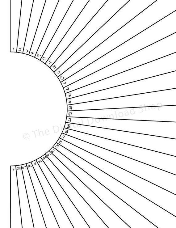 Bullet Journal Habit Tracker Printable Sun Circle Habit