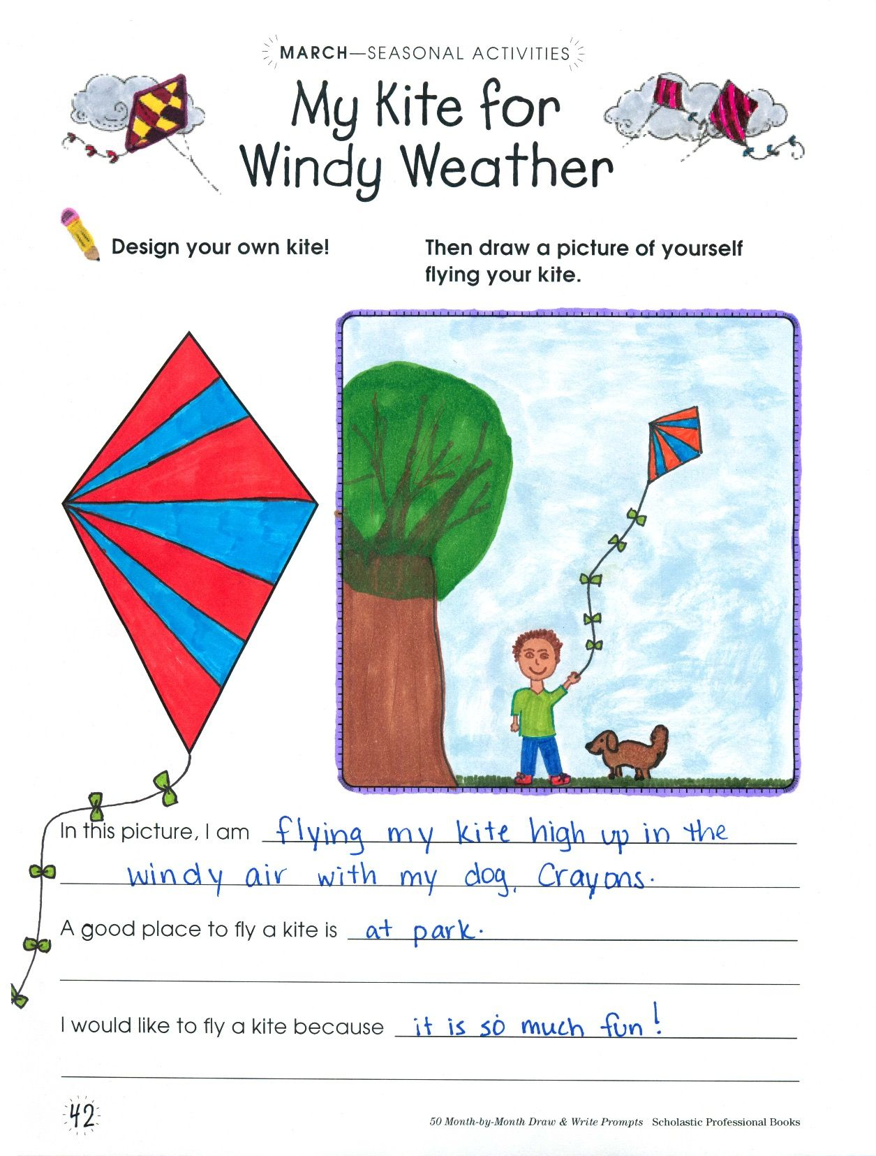 In My Kite For Windy Weather Draw And Write Prompt