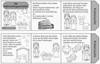 Ideenreise: Faltleporello zur Weihnachtsgeschichte
