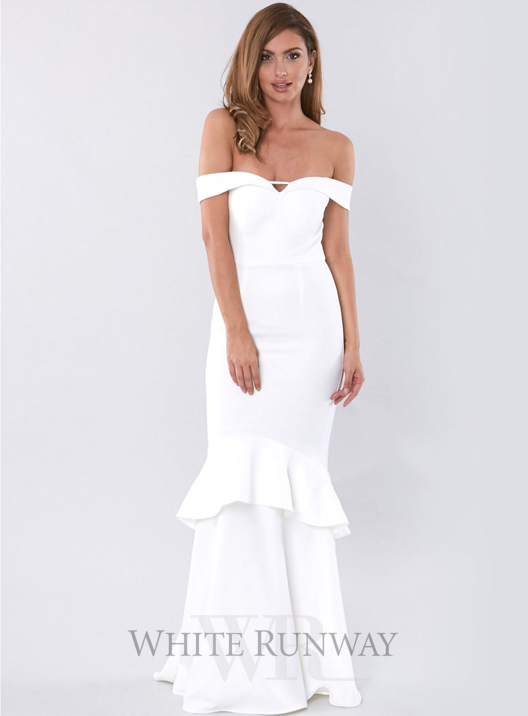 Mid length dresses for wedding guests  Rosetta Gown A gorgeous offshoulder dress by Australian brand Love