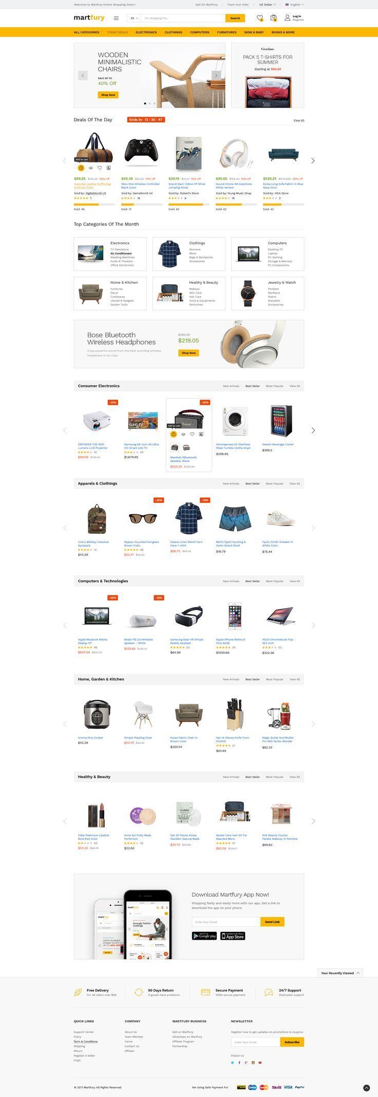 MartFury MultiVendor & Marketplace PSD Template