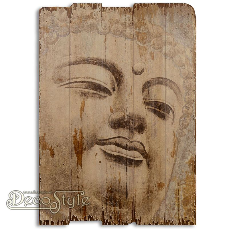 Mooie Houten Wanddecoratie.Wanddeco Hout Boeddha Rechts Houten Decoratie Wooden