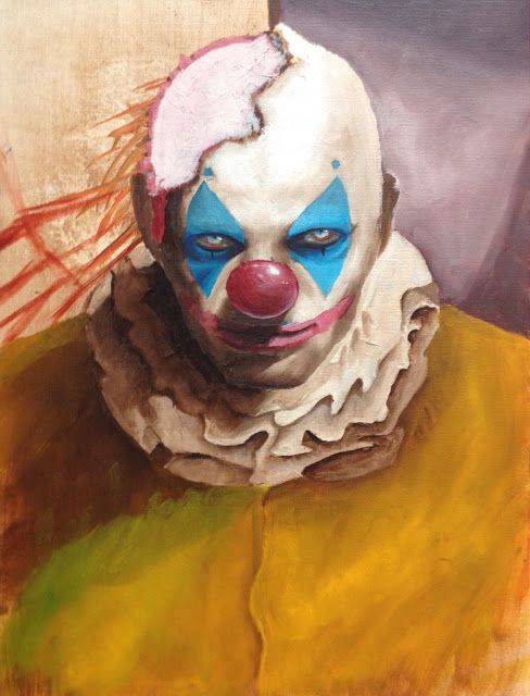 Halloween Party and Evil Clown Traveling Carnival Exhibit ... |Creepy Clown Painting