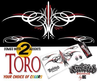 Toro custom lowbrow pinstripe decal ― Twisted Chrome Custom