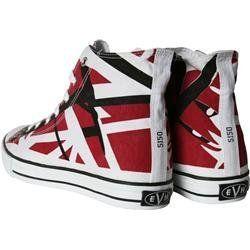 Eddie Van Halen (EVH) Red, Black and White Striped 1200 High Top ...