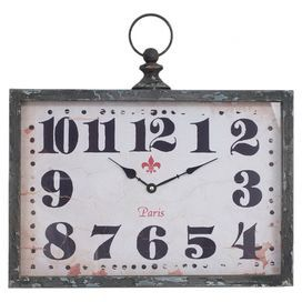 Bring Vintage Inspired Style To Your Kitchen Or Den With This Charming Wall  Clock, Featuring A Weathered Face With Oversized Numerals.
