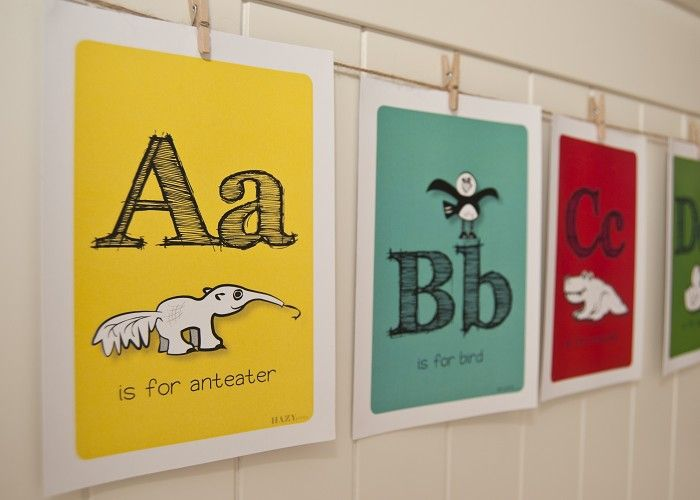 Alphabet Farm pack (with hanging supplies) - by HAZYprints on madeit