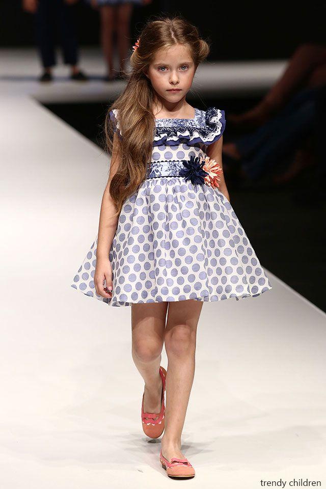 34d7a4fcb foque moda infantil vestido lunares primavera verano 2015