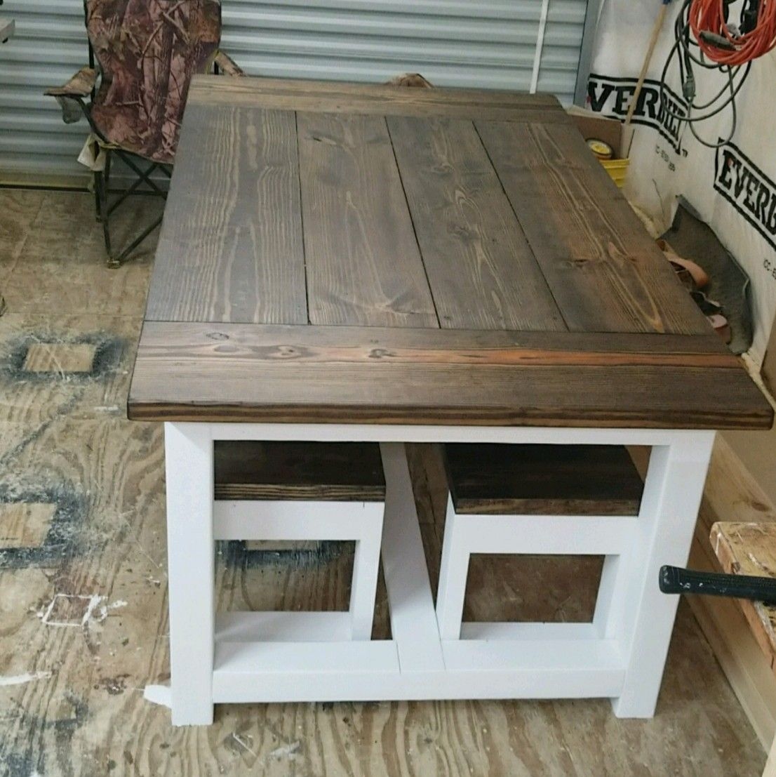 6 X3 1 2 Farmhouse Table With Two Benches Rustic Dining Table Home Decor Farmhouse Table