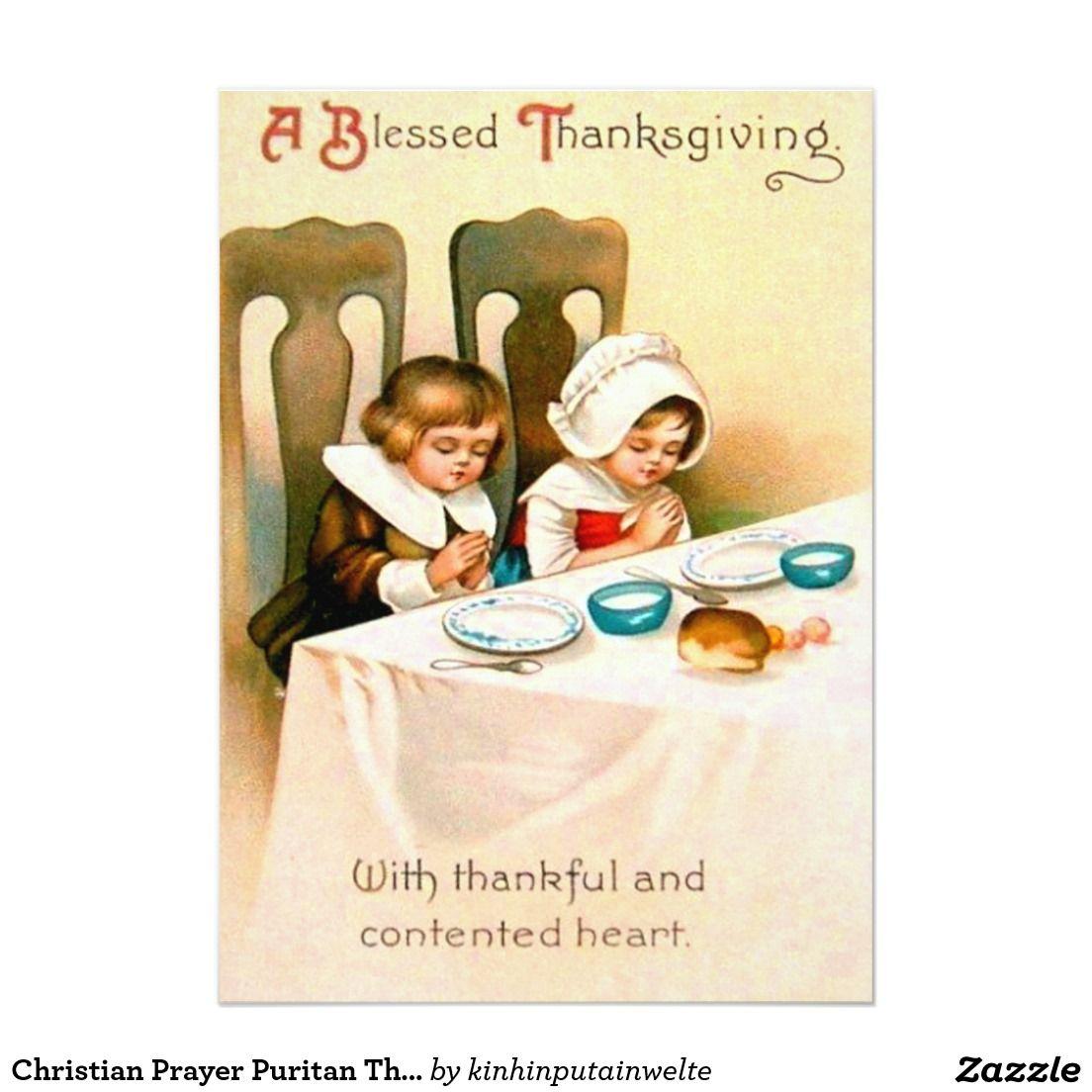 Christian prayer puritan thanksgiving dinner 5x7 paper invitation christian prayer puritan thanksgiving dinner 5x7 paper invitation card kristyandbryce Choice Image