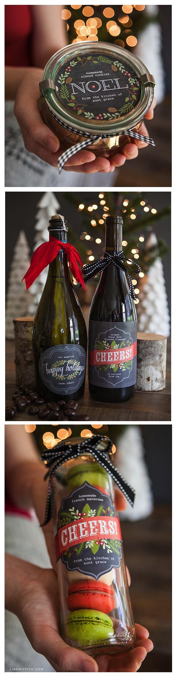 Printable labels for your edible christmas gifts christmas christmas gifts solutioingenieria Gallery