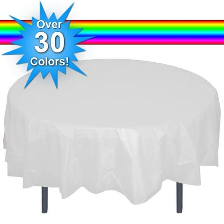 nice Round Disposable Tablecloths Part - 12: Plastic Tablecloths | Cheap Table Covers | Party Table Cloths